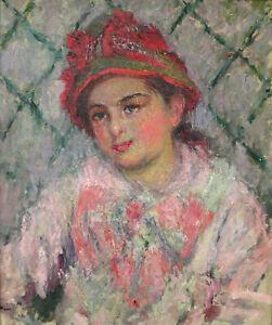 Diamond Painting Kit Portrait Blanche Hoschede Claude Monet 1880 Painting
