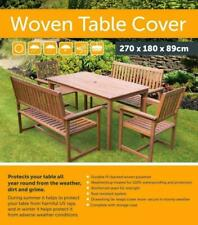 NEW WATERPROOF BLACK TABLE CHAIR COVER WOVEN POLYESTER GARDEN FURNITURE