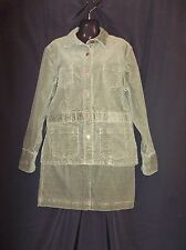 JONES SPORT 2 pc Olive Corduroy DRESS Jacket & Skirt SUIT Women's Size XL