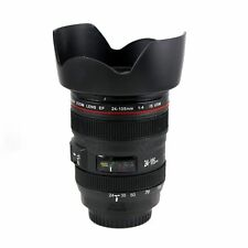 Camera Lens Mug with Cookie Holder Canon EF 24-105mm Coffee Mug Stainless Cup