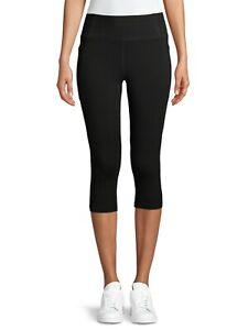 Athletic Works High Rise Capri Leggings XS Large Extra Large 3XL Black Solid