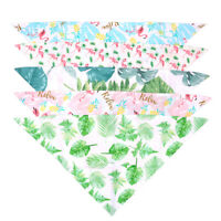 5X Pet Dog Cat Kids Baby Summer Bandanas Scarf Bandage Bibs Dog Accessories