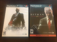 Hitman Blood Money & Silent Assassin Sony PlayStation 2 PS2 Lot Complete