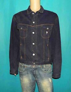 blouson en jean CHEVIGNON western vintage en coton bleu 6 poches taille L