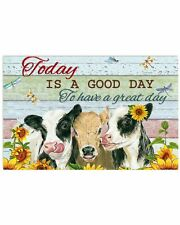 Cow Today Is A Good Day Poster Print 24x36 Inches, Poster Wall Art Home Decor