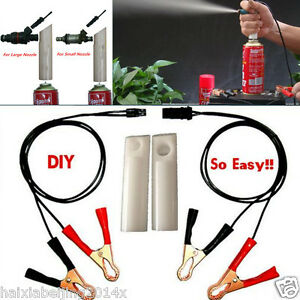 DIY Tool 4in1 Professional Vehicles Fuel Injector Flush Cleaner Adapter Cleaning