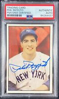 Phil Rizzuto auto signed 1982 Big League #45 New York Yankees PSA Encapsulated