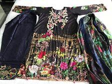 Pakistani Embrioded designer LAWN Shalwar Kameez STITCHED. Readymade L Suit