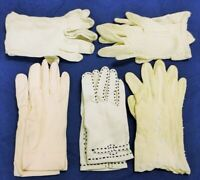 Vintage white ladies gloves
