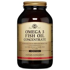 Solgar Omega-3 Fish Oil Concentrate 120 Softgels Made In USA, FREE US SHIPPING