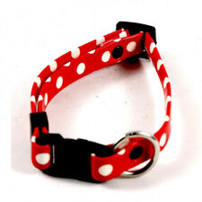 "Adjustable Collar for Small Dog or Cat - Red & Black 5"" - 10"" Neck"