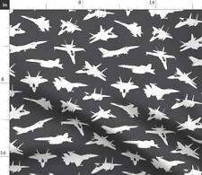 New listing Boys Pilots Jet Boys Room Military Planes Spoonflower Fabric by the Yard