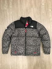 Supreme north face Leopard Nuptse Jacket Sz L TNF puffer vnds