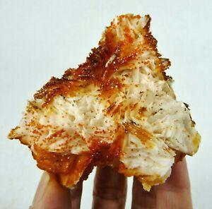 Vanadinite on Barite Crystal Specimen Morocco 120 grams