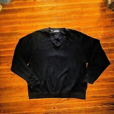 Cutter & Buck Size Xl Pullover V Neck Cotton Long Sleeve Blue Mens
