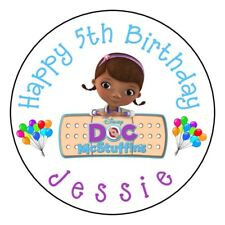 """12 DOC MCSTUFFINS Birthday PARTY Personalized 2.5"""" Round Labels Stickers Favors"""
