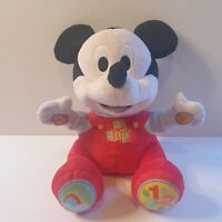 *MICKEY MOUSE* DISNEY talking Plush Soft Toy 123 Abc Sings Talks
