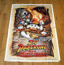 ZIO PAPERONE ALLA RICERCA DELLA LAMPADA PERDUTA manifesto poster Duck Tales Lamp