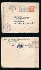 NEW ZEALAND WW2 CENSOR 1942 SUPREME COURT EMBOSSED FLAP SIR HUBERT OSTLER