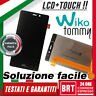 LCD+TOUCH SCREEN ASSEMBLATI PER WIKO TOMMY DISPLAY VETRO SCHERMO NERO BRT_24H!!!