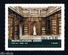 ITALIA 1 FRANCOBOLLO BIBLIOTECA LUCCHESIANA AGRIGENTO 2015 nuovo**