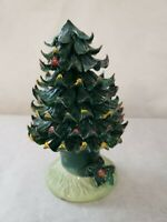 Porcelain Christmas Tree hand painted  6 inches tall
