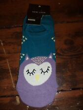 Owl Trainer Novelty Socks Ladies Size 4 - 8 New Look Navy Pair Gift