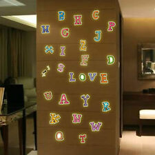 26 Alphabet Letters Kids Room Decor Luminous Home Decoration Glow Wall Stickers