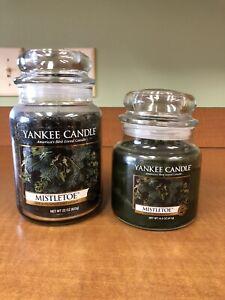 2 Yankee Candle MISTLETOE  22 oz & 14.5 Oz Candles NEW