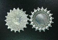 15pcs Tibetan Silver Ball Rim Round Picture Frame R657