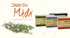 Shea, Plant Flowers Allo & Olivenölseifen From Savon Du Midi-Frankreich