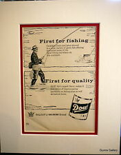 Original Vintage Advert mounted ready to frame Beer Canadian Dow 1953 drink