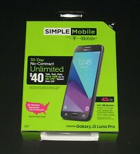For Simple Mobile ONLY, Samsung Galaxy J3 Luna Pro Prepaid Smartphone,New Sealed