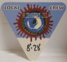 MIDNIGHT OIL - ORIGINAL CONCERT TOUR CLOTH BACKSTAGE PASS
