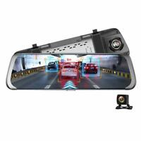 "JUNSUN A930 10"" 4G WiFi Android Car Rearview Mirror DVR Camera ADAS GPS Dash Cam"