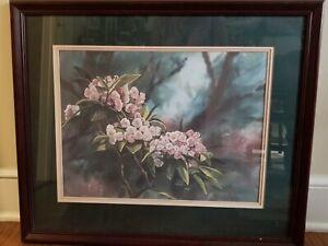 Robert A. Tino Limited Edition Framed Print #719/810 Smokey Mntn Floral