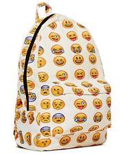 NEW Smiley Emoji Backpack Funny Emoticon Pack School Shoulder Bag Boys Girls UK