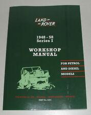 Werkstatthandbuch Land Rover 86 88 107 109 Series I / Serie 1 (1948 - 1958)