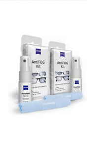 ZEISS AntiFOG Kit 15 ml Spray and Treated Cloth, Pack of 2 Full Sets