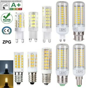 led g9 g4 ampoule E14 capsule lumière blanche chaude SMD lampes COB dc 12v 220v