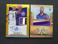 THOMAS ROBINSON 12-13 SELECT/GOLD STANDARD GOLD ROOKIE RC AUTO PATCH LOT (2)#/10