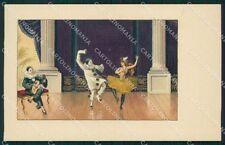 Dancing Lady and Pierrot MM Vienne 333 postcard cartolina QT6849