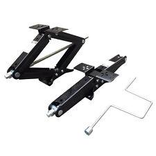 "Set of Two 5000 lb 24"" RV Trailer Stabilizer Leveling Scissor Jacks w/handle"