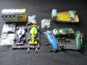 SCALEXTRIC lot de voitures , pièces, boîtes, pour restauration