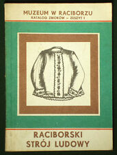 BOOK Polish Folk Costume in Raciborz Silesia ethnic fashion dress pattern POLAND