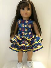 Homemade American Girl Doll clothes - Curious George dress