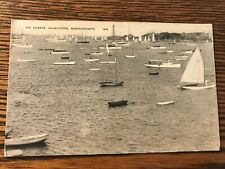 Sailboats Boats in the Harbor Marblehead Massachusetts Ma Postcard