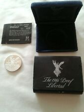 1986 MEXICO 1 OZ SILVER LIBERTAD PROOF BOXED WITH COA