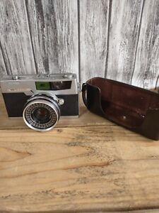 Vintage Petri 7S Rangefinder 35 mm Film Camera W/ 2.8 F=45mm Lens Tested!