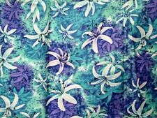 """Vintage Rayon Fabric tropical Hawaiian Floral 1yd 32"""" x 35"""" wide + a lot extra"""